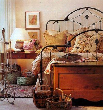 cama de forja rústica