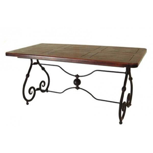 mesas r sticas para decorar tu sal n forja hispalense blog On mesas de forja y madera