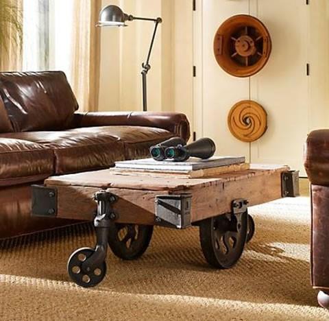 Mesas con mucho encanto 13 ideas para combinar hierro y - Muebles de salon estilo vintage ...
