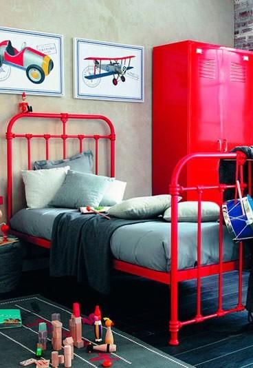 Dormitorios juveniles estilo industrial con camas de forja for Pintura estilo industrial