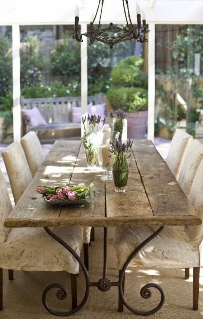 Como decorar tu comedor con mesas de forja   forja hispalense