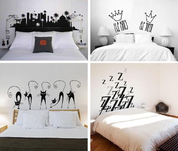 Cabecero cama papel pintado pin ideas para decorar el - Papel pintado cabecero cama ...