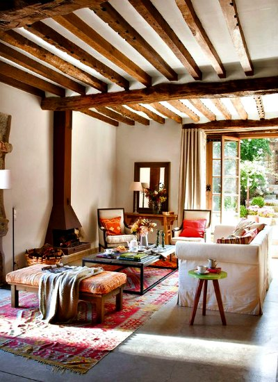 mesas rústicas estilo moderno