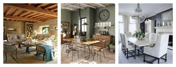 Salon comedor con estilos moderno y rustico - Forja hispalense ...