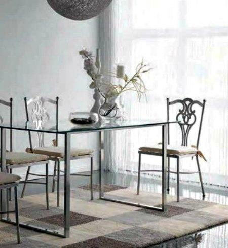 Salones r sticos modernos forja hispalense blog - Sillas de forja baratas ...