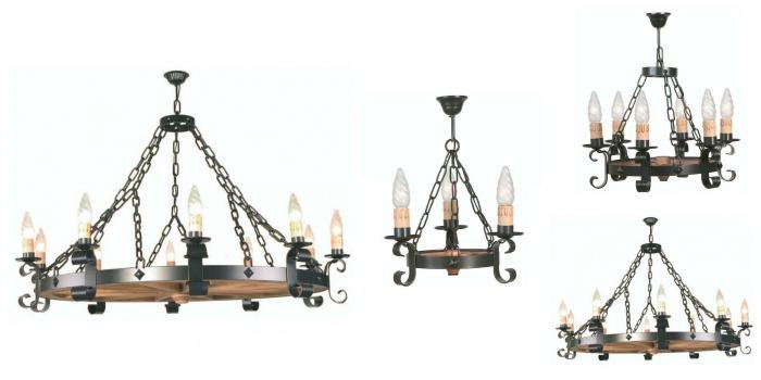 Lámparas rústicas de techo - Forja Hispalense Blog