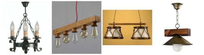 L mparas r sticas de techo forja hispalense blog - Tipos de lamparas de techo ...
