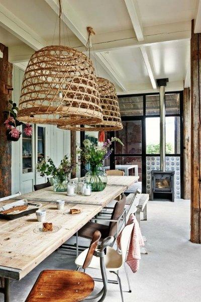 mesas rusticas para cocinas